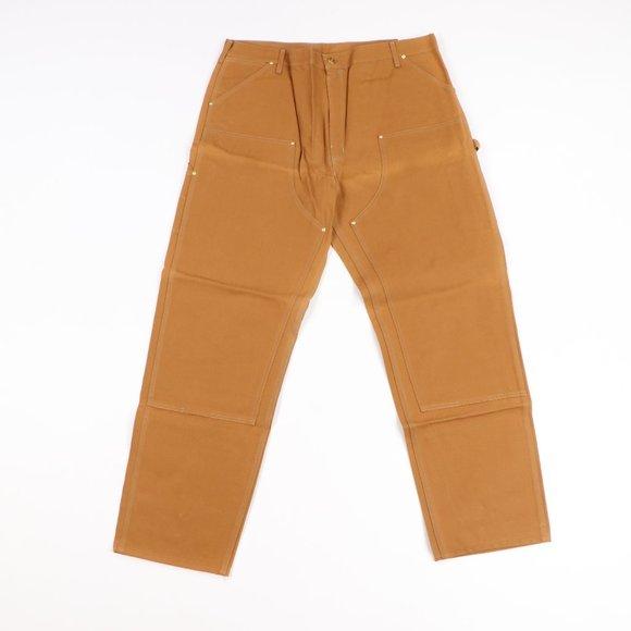 NOS Vtg 90s Carhartt Double Knee Jeans Duck Brown